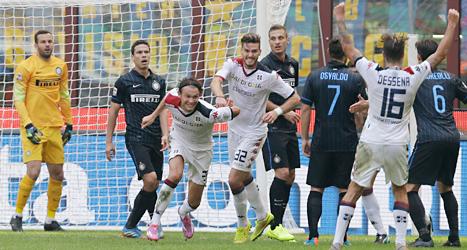 Albin Ekdal gjorde tre mål och blev hjälte. Foto: Antonio Calanni/TT.