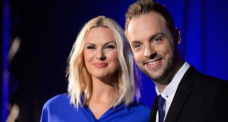 Sanna Nielsen och Robin Paulsson ska jobba ihop. Foto: Fanni Olin Dahl/TT