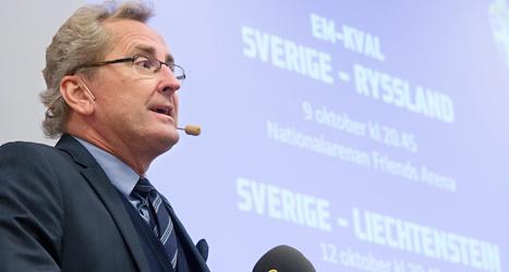 Erik Hamrén är ledare för Sveriges landslag i fotboll. Foto: Fredrik Sandberg/TT.