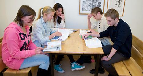 Elever på skolan i Spånga. Foto: TT