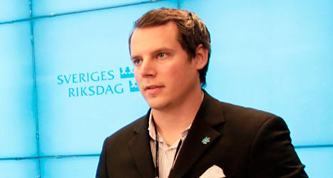 Christoffer Dulny är en av Sverigedemokraternas viktigaste politiker i Stockholm. Foto: TT