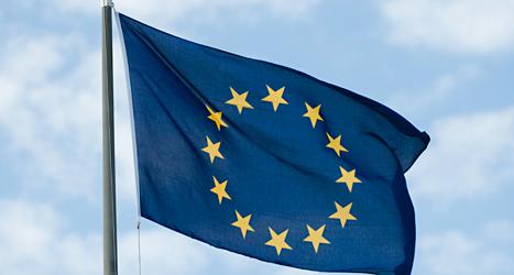 Flaggan för Europeiska Unionen, EU. Foto: TT