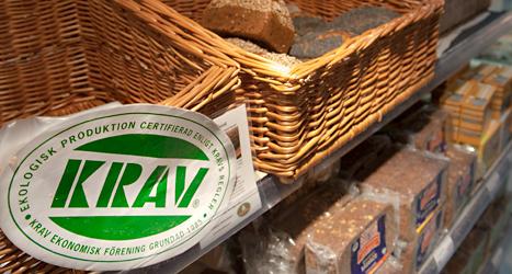 Ekologiskt bröd i en butik. Foto: TT