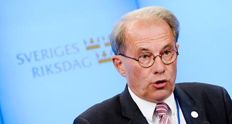 Per Westerberg är riksdagens talman. Det är han som leder arbetet i riksdagen. Foto: TT