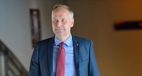 Vänsterpartiets ledare Jonas Sjöstedt. Foto: TT