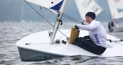 Josefin Olsson blev två i världsmästerskapet i segling i Spanien.  Det var hennes första medalj i ett stort mästerskap. Foto: Oskar Kihlborg/TT.