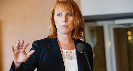 Centerpartiets ledare Annie Lööf tycker att förslaget om kärnkraften är otydligt. Foto: Fredrik Persson/TT