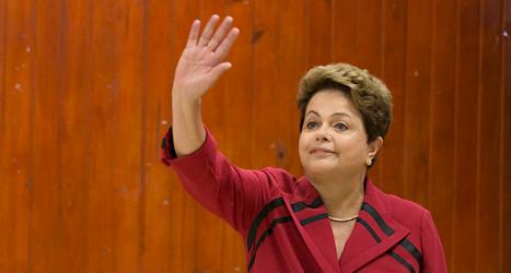 Dilma Rousseff vill fortsätta som president i Brasilien. Foto: Felipe Dana/TT.