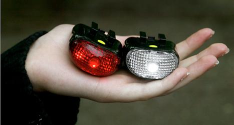 LED-lampor används bland annat i lysen till cyklar. Foto: Jack Mikrut /TT