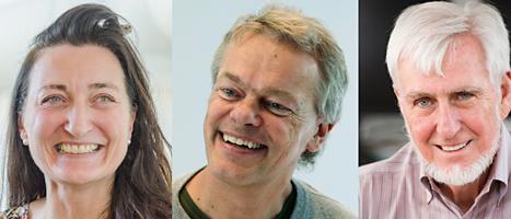 May-Britt Moser, Edward Moser och John O'Keefe får Nobelpriset i medicin. Foto: Matthias Schrader och Ned Alley/TT.