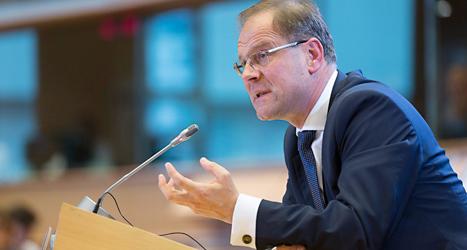 Tibor Navracsics stoppades av politikerna i EUs riksdag. Foto: Thierry Monasse/TT.