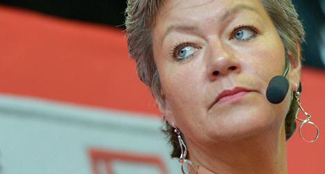 Ylva Johansson är arbetsmarknadsminister i regeringen. Foto: Janerik Henriksson/TT.