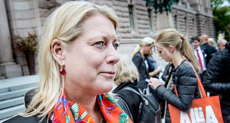 Catharina Elmsäter-Svärd vill inte bli partiledare. Foto: Tomas Oneborg/TT.