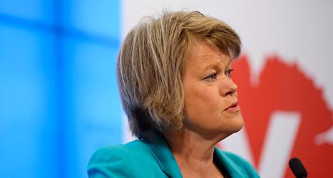 Ulla Andersson i Vänsterpartiet är nöjd med förslaget. Foto: Per Larsson /TT