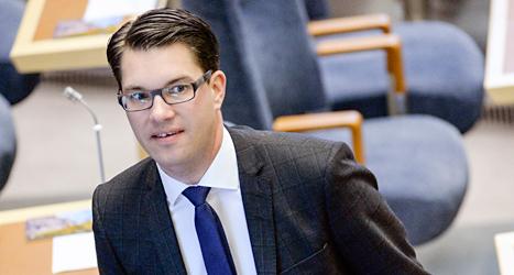 Jimmie Åkesson är sjuk och kan inte vara partiledare under en period. Foto: Janerik Henriksson /TT