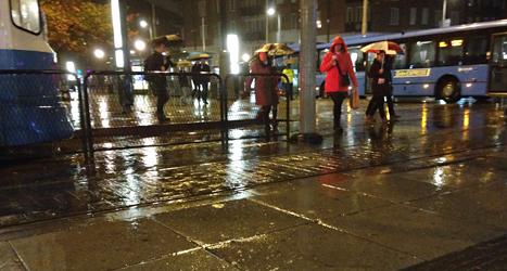 Det regnade mycket i Göteborg på torsdagen. Foto: Margareta G Kubista/TT.