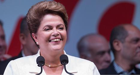 Dilma Rousseff vann valet i Brasilien. Foto: Felipe Dana/TT.