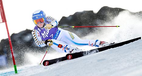 Maria Pietilä Holmner blev åtta i storslalom i Sölden. Foto: Pontus Lundahl/TT.