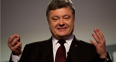 Petro Porosjenkos parti kommer att kunna styra Ukraina tillsammans med två andra partier. Foto: Emilio Morenatti/TT.