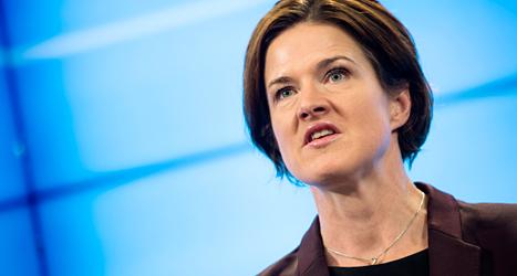 Moderaternas Anna Kinberg Batra gillar inte regeringens förslag. Foto: Pontus Lundahl /TT