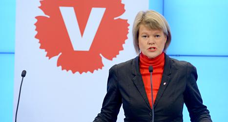 Ulla Andersson från Vänsterpartiet. Foto: Janerik Henriksson/TT