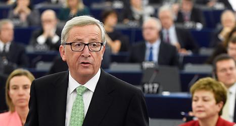 Jean Claude Juncker från Luxemburg valdes till ledare för EUs regering, EU-komissionen. Foto: Christian Lutz /TT