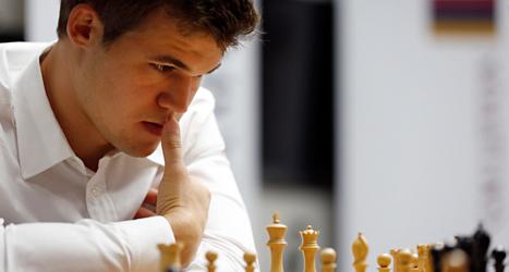 Magnus Carlsen från Norge är världsmästare i schack. Foto: Jeff Robertson/TT