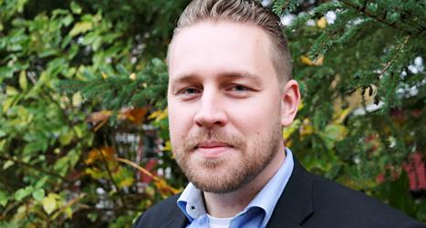 Mattias Karlsson leder Sverigedemokraterna när Jimmie Åkesson är sjuk. Foto: TT
