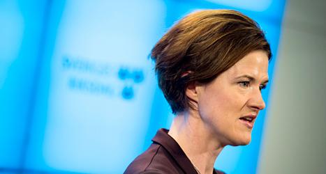 Anna Kinberg Batra kan bli Moderaternas nya ledare. Foto: Pontus Lundahl/TT.
