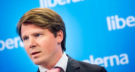 Politikern Erik Ullenhag i Folkpartiet. Foto: Pontus Lundahl/TT.