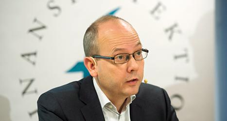 Martin Andersson är chef på Finansinspektionen. Foto: Fredrik Sandberg/TT