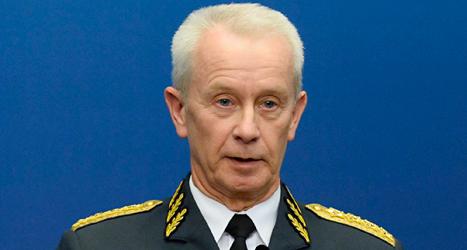 Sverker Göransson är högsta chef för Sveriges militärer. Foto: Claudio Bresciani/TT