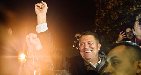 Klaus Iohannis blir ny president i Rumänien. Foto. Raed Krishnan/TT.