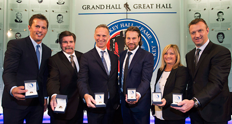 Peter Forsberg blev invald i hockeymuseet Hall of Fame. Foto: Nathan Denette/TT.