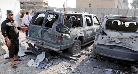 Tolv människor i Irak dödades av bomber på måndagen. Foto: Karim Kadim/TT.