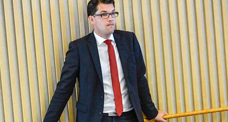 Jimmie Åkesson har tagit paus från politiken. Foto: Henrik Montgomery/TT