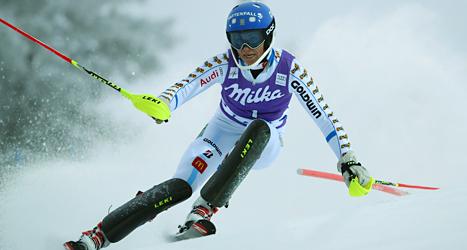Frida Hansdotter åkte bra i vinterns första tävling. Foto: Giovanni Auletta/TT.