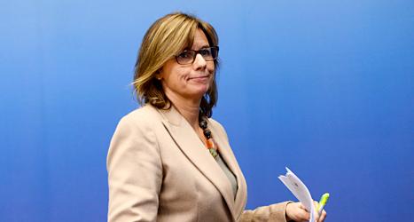 Isabella Lövin är politiker för Miljöpartiet och biståndsminister i regeringen. Foto: TT