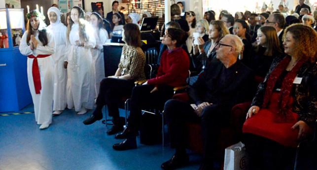 Ett luciatåg för nobelpristagaren Patrick Modiano