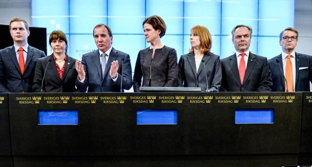 Ledarna för partierna i regeringen och partierna i Alliansen