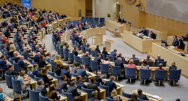 Politikerna i riksdagen