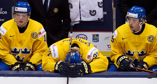 De svenska spelarna deppar.