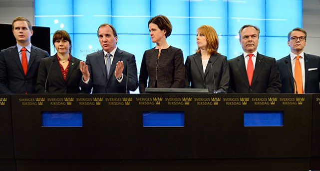 Ledarna för partierna i regeringen och i Alliansen