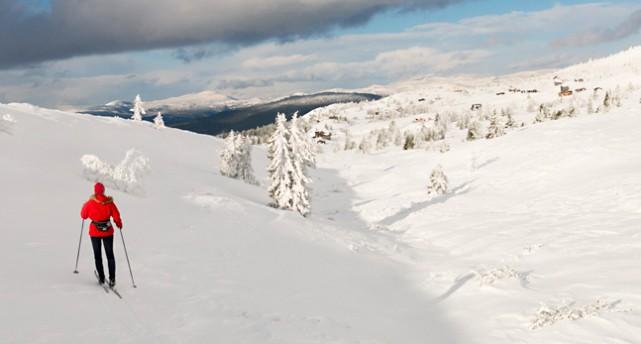 snö i fjällen