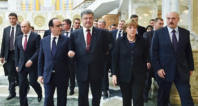 Ledarna på mötet i Vitryssland