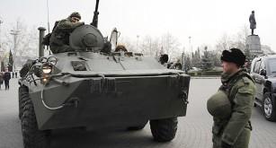 En rysk stridsvagn i Krim.