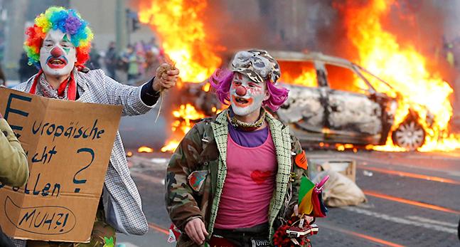 TOPP APTOPIX Germany Protests ECB