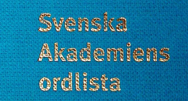 Svenska akademiens ordlista