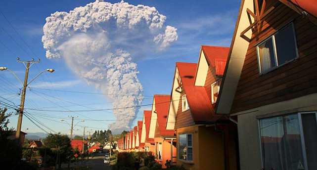 Det ryker från vulkanen Calbuco