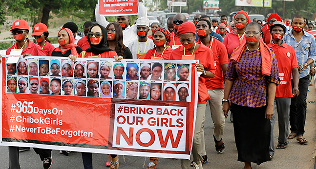 Nigeria Kidnapped Girls Anniversary